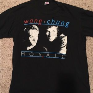 Other - SUPER RARE 1987 Vintage Wang Chung Mosaic T-Shirt